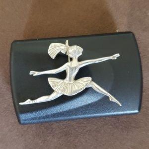 Edward Gorey ballerina pin